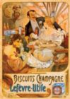 Biscuits Champagne Vintage Poster - 1000 pc Jigsaw Puzzle by D-Toys