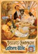 D-Toys Biscuits Champage Vintage Poster Jigsaw Puzzle