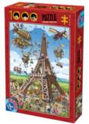 D-Toys Building the Eiffel Tower Jigsaw Puzzle
