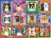White Mountain A Year of Dogs Jigsaw Puzzle