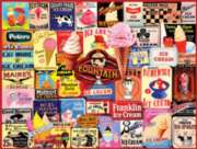 White Mountain Ice Cream Collage Jigsaw Puzzle