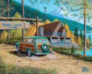 White Mountain Eagle Lake Lodge Jigsaw Puzzle