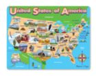 USA Map - 45pc Contour Frame Puzzle By Melissa & Doug