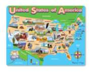 Melissa & Doug USA Map Frame Jigsaw Puzzle