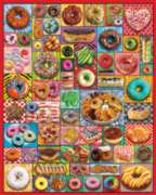 White Mountain Donuts & Pastries 1000-piece Jigsaw Puzzle