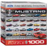 Eurographics Ford Mustang Evolution 50th Anniversary (Small Box) Jigsaw Puzzle