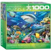 Eurographics Swimming with Sharks by Howard Robinson (Small Box) Jigsaw Puzzle