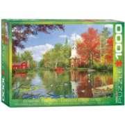 Eurographics Lakeside Reflection by Dominic Davison Jigsaw Puzzle