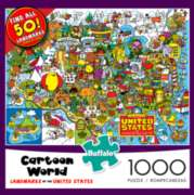 Buffalo Games US Landmarks - Cartoon Series Jigsaw Puzzle