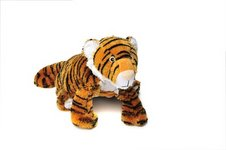 "Taj (Plush / Pillow / Blanket) - 23.5"" Tiger By Zoobie Pets"