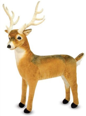"Deer - 27"" Tall, Standing Plush Deer by Melissa & Doug"
