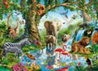 Jungle lake - 2000 pc Jigsaw Puzzle by Clementoni