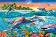 Clementoni Tropical Dolphins Jigsaw Puzzle