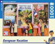 New York Puzzle Company European Vacation Jigsaw Puzzle