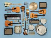 New York Puzzle Company Musical Instruments Jigsaw Puzzle