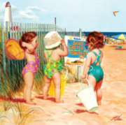 Masterpieces Beach Babies Jigsaw Puzzle