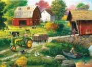 Masterpieces John Deere | Country Side Jigsaw Puzzle Tin