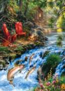Masterpieces Up Stream Jigsaw Puzzle