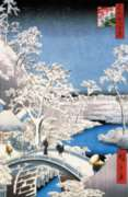 Puzzles Michele Wilson Le pont � Meguro - HIROSHIGE Handcrafted Jigsaw Puzzle
