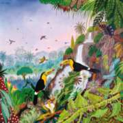 Puzzles Michele Wilson Toucans � Car�ne - THOMAS Handcrafted Jigsaw Puzzle
