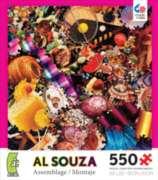 Ceaco Al Souza Assemblage Racquet Ball Jigsaw Puzzle