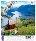 Around the World: Ulvikfjord, Norway - 550pc Jigsaw Puzzle by Ceaco