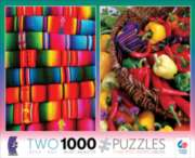 Ceaco Blankets & Peppers 2 in 1 Multi-Pack Jigsaw Puzzle
