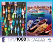 Ceaco Buoys & Boat 2 in 1 Multi-Pack Jigsaw Puzzle