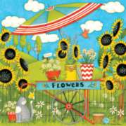 Ceaco Debbie Mumm Flower Cart Jigsaw Puzzle