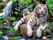 Ceaco Harmony White Tigers Jigsaw Puzzle