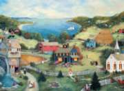 Ceaco Linda Nelson Stocks Catherine's Cove Jigsaw Puzzle