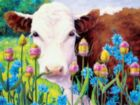 Moo: In Blue Sailors and Teasel - 550pc Jigsaw Puzzle by Ceaco