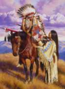 Ceaco Native Portraits Jigsaw Puzzle | The Farewell