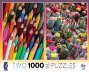 Ceaco Pencils & Cactus 2 in 1 Multi-Pack Jigsaw Puzzle