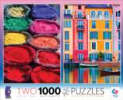 Ceaco Pigment & Italian Canal 2 in 1 Multi-Pack Jigsaw Puzzle
