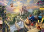 Thomas Kinkade Disney Dreams: Beauty and the Beast Falling in Love - 750pc Jigsaw Puzzle by Ceaco