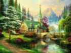 Thomas Kinkade Inspirations: Dogwood Chapel - 300pc Oversized Jigsaw Puzzle by Ceaco