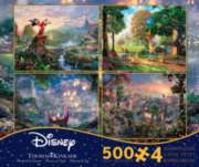 Ceaco Thomas Kinkade, Series 2, 4 in 1 Disney Dreams Jigsaw Puzzle Multipack