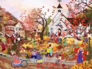 Ceaco Tuula Burger Autumn School Days Jigsaw Puzzle