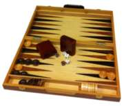 15&quot; Burlwood Backgammon - Classic Game