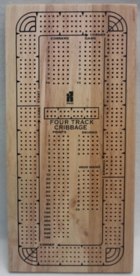 4 Track Cribbage Board - Card Game