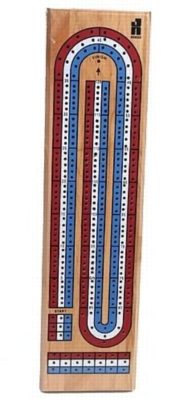 3 Track Color Cribbage Board - Card Game