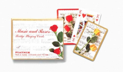 Music & Roses - Double Deck Playing Cards