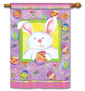 Happy Easter Bunny - Standard Flag by Magnet Works