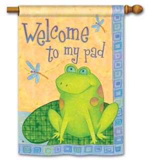 Toadally Welcome - Standard Flag by Magnet Works
