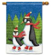 Penguins on Ice - Standard Flag by Magnet Works