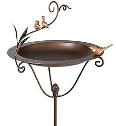 Casted Standing Birdbath