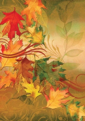 Give Thanks (Autumn Aria) - Standard Flag by Toland