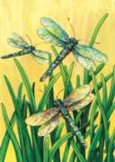 Dragonflies in Flight - Garden Flag by Toland