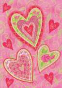 Lovely Hearts - Standard Flag by Toland